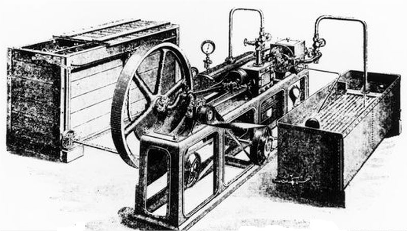 Ice Making Machine circa 1875