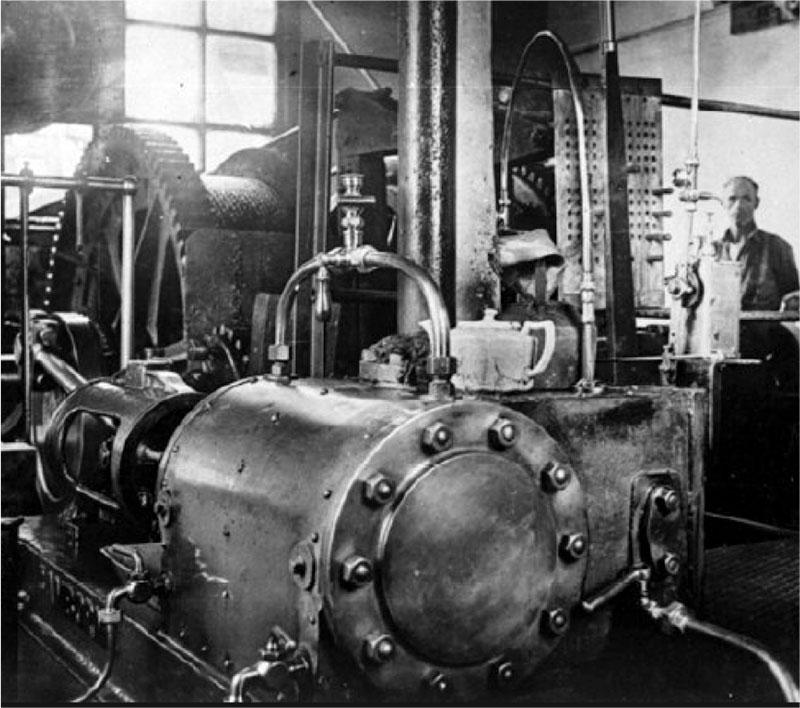 Steam engine a mine-works