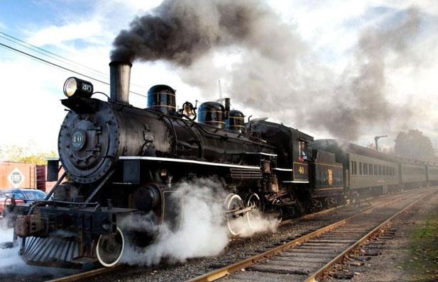 Steam Railway Locomotive