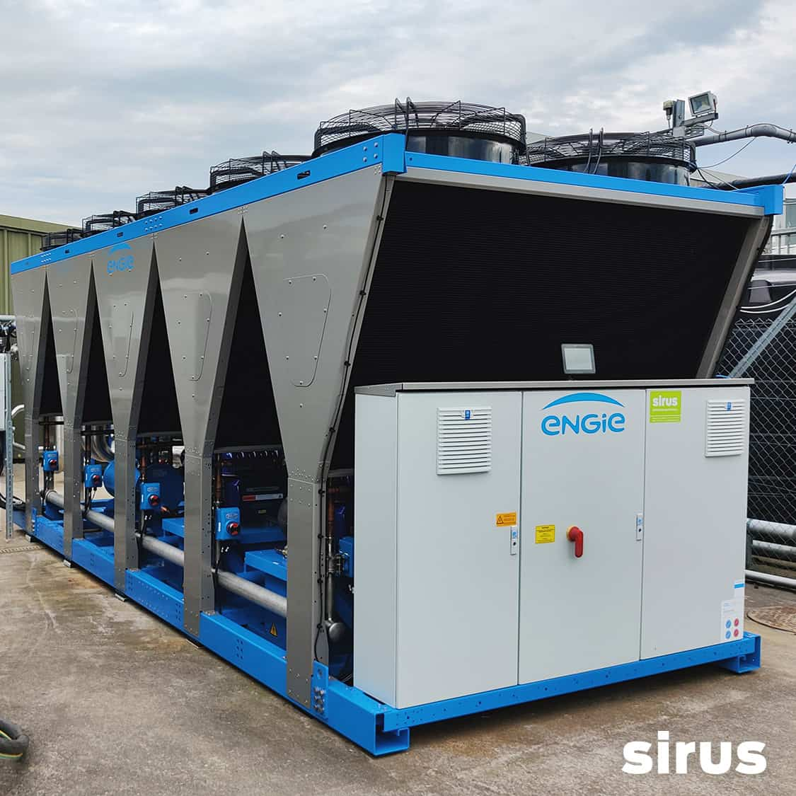 Air-cooled Chiller supplied and installed by Sirus