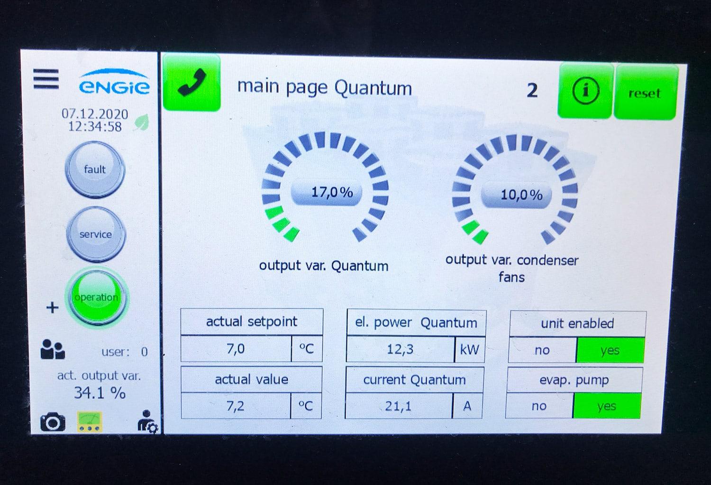 Chiller Control Panel St. James's Hospital